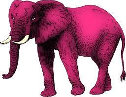 Pink elephant clip art | Public domain vectors